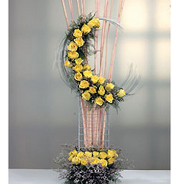 Birthday gift flower arrangement